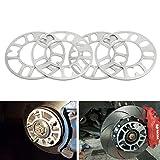 4 pi/èces en alliage daluminium 4 et 5 LUG 3 12 mm /Épaisseur universel Espaceurs de roue 4PCS /Élargisseurs de voie 8 5 10