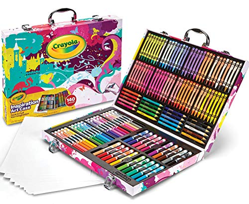 Crayola Inspiration Art Case in Pink, Coloring Set, Gifts for Girls & Boys, Age 5+, 140 Count