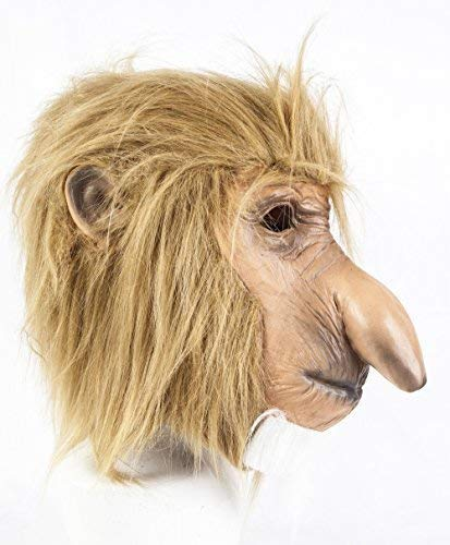Coopers tm Proboscis Monkey Masque Latex Safari Jungle Chimpanzé Animal Déguisement Halloween
