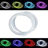 PMMA Fibra óptica Luz Cable Lateral Glow para la decoración de iluminación óptica y el techo de estrella de alto brillo llevó la luz del kit - [Ф0.12in/3mm* 5m]