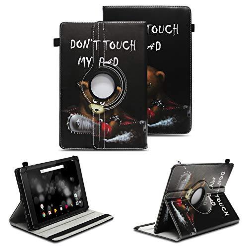 NAUC Tablet Schutzhülle kompatibel für TrekStor Primetab P10 Hülle Tasche Standfunktion 360° Drehbar Cover Hülle Universal Schutzhülle, Farben:Motiv 10