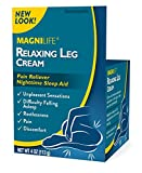MagniLife Relaxing Leg Cream, Deep Penetrating Topical for Pain and Restless Leg Syndrome Relief, Naturally Soothe Cramping, Discomfort, and Tossing with Lavender and Magnesium - 4oz