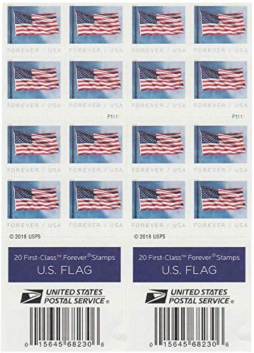 Postage Stamp for USPS 2019 Releases Stamps (2 Booklet Total 40 Stamps)