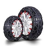 FSDGHSD Car Snow Chains TPU Anti-Skid Tire Chain Widen Armor for Truck SUV 2 Pcs (Size : 225/55R18)