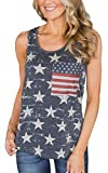 Womens American Flag Tank Tops USA 4th of July T Shirts for Women Summer Casual Sleeveless Patriotic Tee Shirt