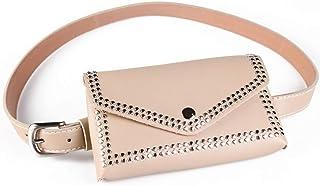 COAFIT Fanny Pack Fashion Fanny Bag Waist Purse Waist Bag with Adjustable Belt for Outdoor (Beige)