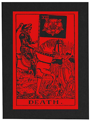 Death Tarot Card Back Patch - Memento Mori Remember Death Skull Occult Gothic Skeleton Medieval