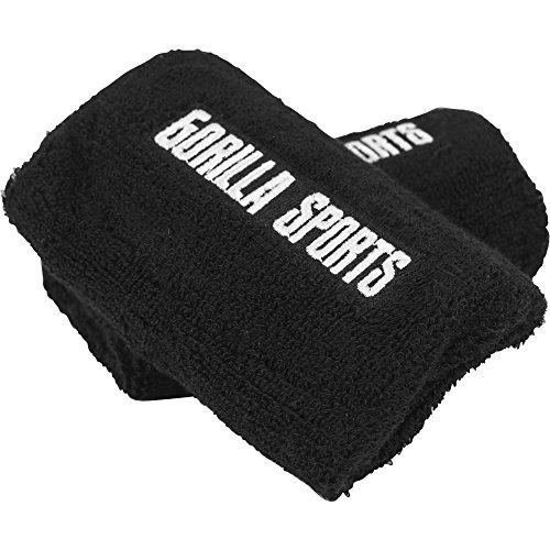 GORILLA SPORTS® Kettlebell Wrist Guard Schwarz – Handgelenk- und Armschutz 2er-Set