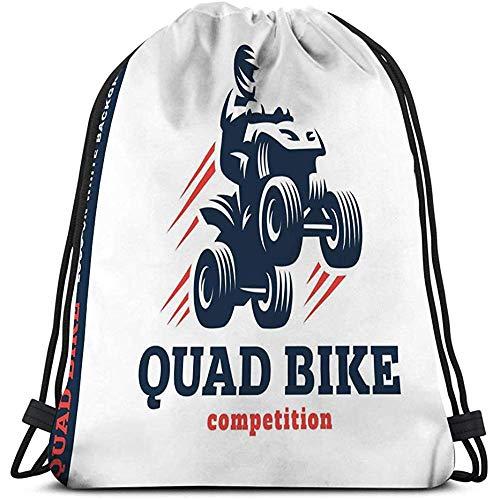BOUIA Trekkoord Tas quad bike competitie logo wit Tekenen