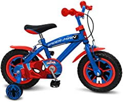 STAMP Spiderman Bicicleta, Niños, Blue, 3-5