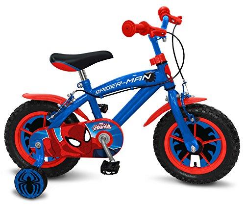 Stamp Spiderman Bicicleta, Color Azul, 12 Pulgadas (SM250018