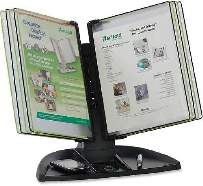 Tarifold Design Display Desk Stand, 20Sht Cap, Black (TDBL291)