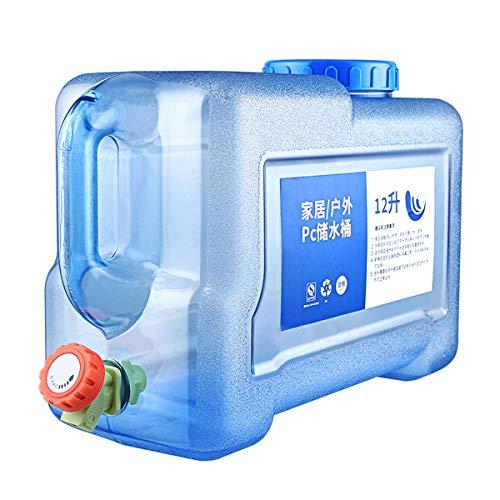 Cubo Almacenamiento Agua 5L Agua Bidón Agua Potable Dispensador De Agua Portátil con Grifo/caño De Agua Contenedor De Agua Portátil Tanque De Almacenamiento De Agua Portátil Acampar Viajes En Auto
