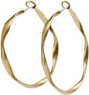 54ca08a25093 LuckyLy – Aretes Mujer Cinthya – Aretes Largos Mujer de Moda – Estilo  Arracadas para Mujer – Estructura Ligera – Forma Circular – Color Oro o  Plata Mate ...