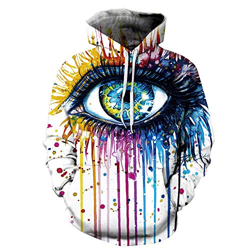 Impresión 3D Sudaderas Hombres Mujeres Arco Iris Colorido Pintura Al Óleo Impresión Sudadera Unisex Hip Hop Streetwear, Color04, 6XL