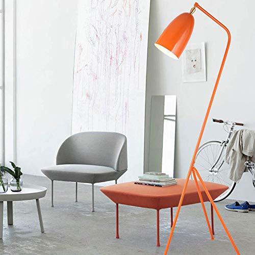 WANGIRL Nordische Moderne Studie Schlafzimmer Wohnzimmer Essbereich Nacht Kunst Vertikale Dreibeinige Stativ Stehlampe,Orange