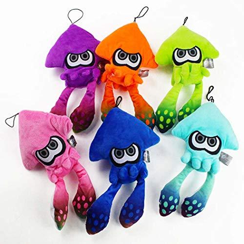 Feidiao 6 Stück / Set Splatoon Squid Plüsch Weiche gefüllte Tintenfischpuppe Plüschspielzeugpuppe für Kinder Geschenk Splatoon Baby Appease Puppe 25cm