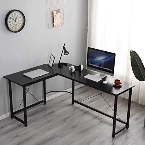 soges Computertisch Winkelschreibtisch L-Form Eckschreibtisch Großer Gaming Studientisch für Home Office und Büro