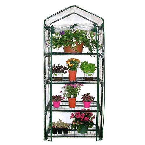 Mini invernaderos al aire libre y al aire libre, estante de metal de múltiples capas, pequeño invernadero de plantación de jardines, carpa portátil con cubierta transparente impermeable y resistente