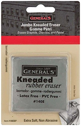 General Pencil GEN-140E-BP Jumbo Grey Kneaded Eraser Multicolor