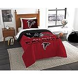 NFL Atlanta Falcons Unisex 'Draft' Twin Comforter and Sham Set, Red, Twin