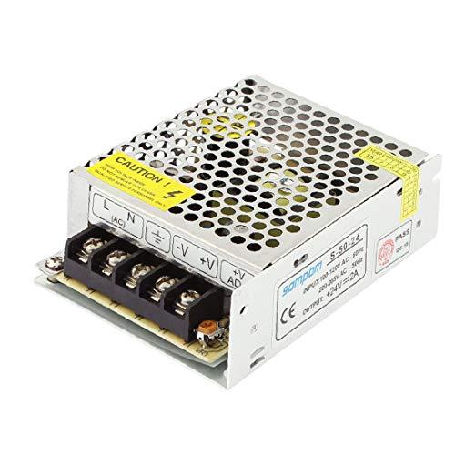 X-DREE AC 100V-120V a alto rendimiento DC 24V 2A esencial carcasa de aleación bien hecho LED Fuente de alimentación conmutada(441-bd-eb-70f)