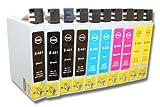 10 x Cartucho de Tinta para EPSON-Stylus C64 / C66 / C84 / C86 /CX3600 / CX3650 / CX6400 / CX6500 / CX6600 / CX6650.