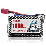 Hosim RC Cars Replacement Battery, 1000mAh Li-Po Rechargeable Battery Q903 Brushless RC Car Truggy High Speed Truck Accessory Supplies