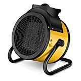 XinC Space Heater Portable, with Adjustable Thermostat, Fast Heating, Adjustable Heating Settings,Small Fan Heater for Office, Outdoor, Grow Tent.