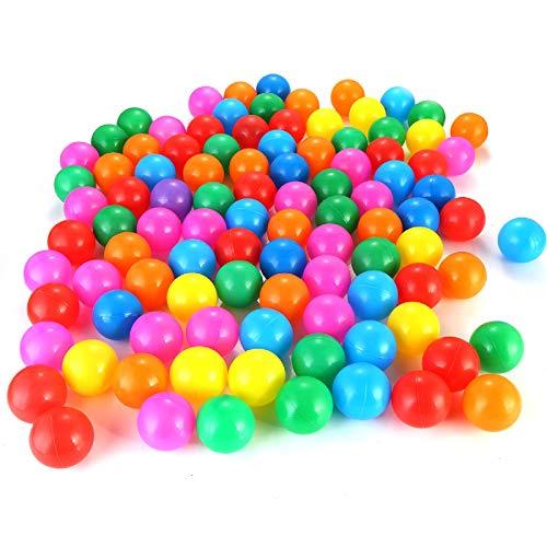 Yunnyp 100 Pz / Set Palline Marine in Borsa a Rete Set di Palline Colorate in Plastica Morbida E Divertente per Bambini (5 5 Cm)