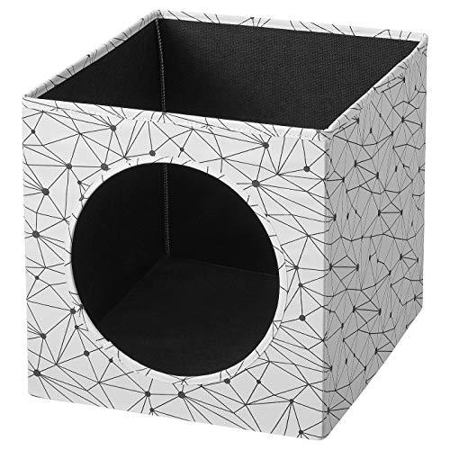 ik Ikea LURVIG Casetta, Cuccia, per Gatti, Bianco,Utilizzabile Anche nella libreria, 33x38x33 cm