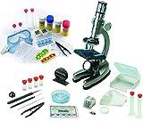 EDU-TOYS Mikroskop Zoom 100x – 900x im Handkoffer Lernmikroskop mit extra Experimentierzubehörpaket und Schutzbrille -