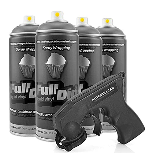 Pack Llantas Vinilo LIQUIDO Full Dip 4 Sprays Antracita Metalizado