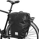 Sahoo - Alforja trasera para bicicleta (PVC), impermeable, 20L, con correa para el hombro y soporte universal
