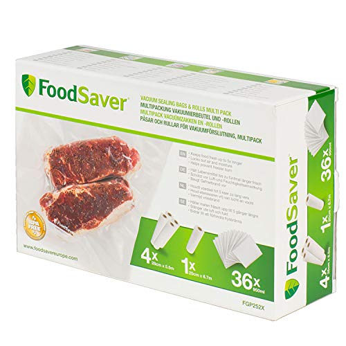FoodSaver FGP252X Combo pack, Plástico, Transparente
