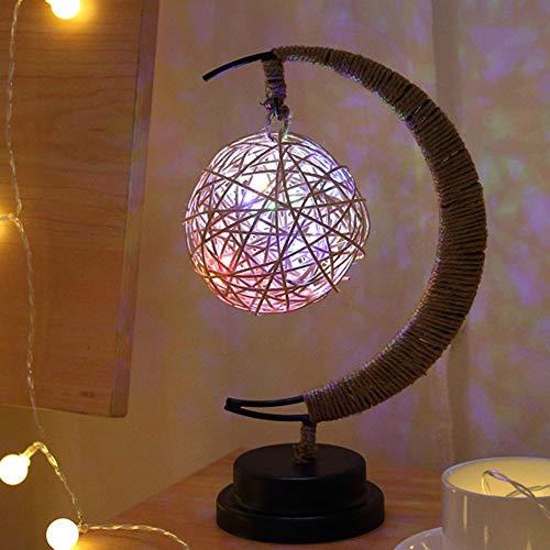 Veilleuses Lampe de modélisation en verre de lampe de modélisation en verre de corde de cuivre à la main de lampes de décoration romantique Noël en fer forgé lampe de table nuit USB, cadeau pour femme