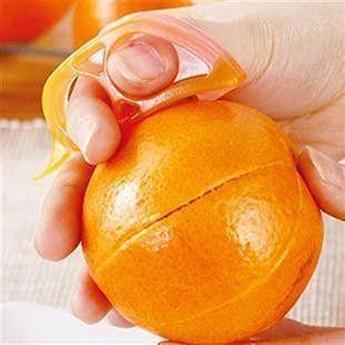CJESLNA 4 x Orange Opener Peeler Slicer Cutter Plastic Lemon Citrus Fruit Skin Remover