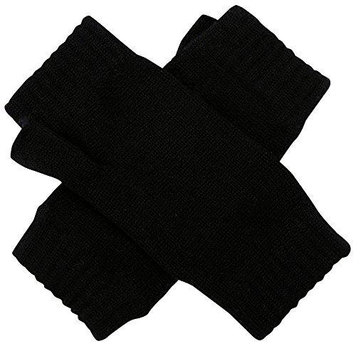 Gants de luxe écossais 100% cachemire Noir pur