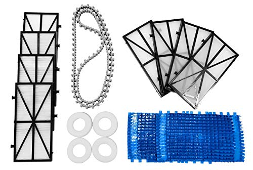 Great Deal! DOLPHIN Nautilus Robotic Pool Cleaner Tune-up Kit with Replacement Filters, Brushes, Cli...