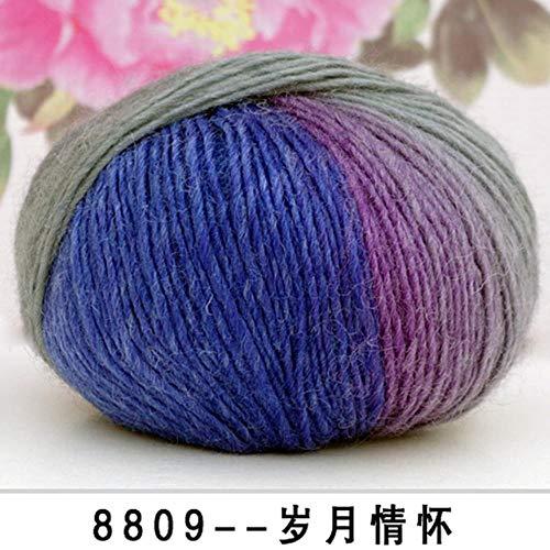 LLDS 1000G 20 ballen mooie kleurrijke garen 100% wol hand breien garen sjaal hoed trui eco-gekleurd garen accepteren mix kleur