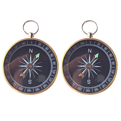 OULII 2pcs Boussole Keychain portable Pocket Porte-clés pour anniversaire mariage Party Favors Décorations