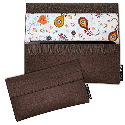 SIMON PIKE Hülle Tasche kompatibel mit Samsung Galaxy S8 Active | Filztasche Newyork in 10 braun aus Filz (echtem Wollfilz) Handyhülle