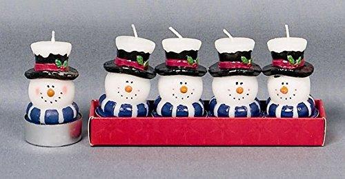 Premier Decprations Juego de Cuatro Velas de Navidad con diseño de Reno de Papá Noel o muñeco de Nieve