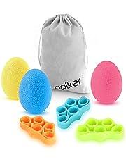 apiker anti-stressbollar, handförstärkt fingerövningskit [7 pack] [Enkel, medium, tung], stressavlastning, öka styrkan, förbättra skicklighet och påskynda återhämtningen