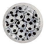 qfkj Tirador de la Perilla del cajón 4 Piezas El cajón del gabinete de Vidrio de Cristal Tira Las perillas del Armario,balones de fútbol llenos Blancos