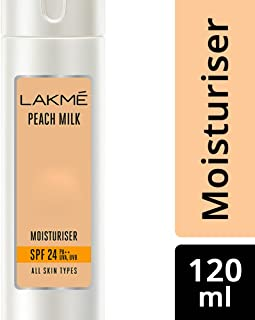 Lakmé Peach Milk Moisturizer SPF 24 PA Sunscreen Lotion, 120ml