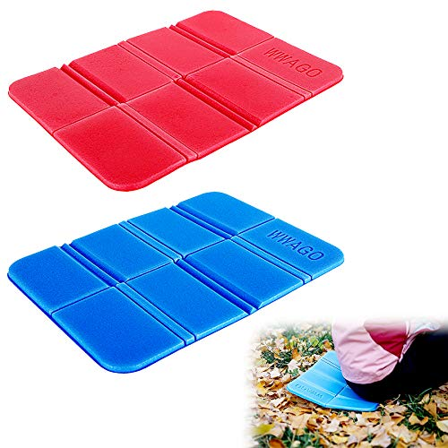 2PCS Camping Cushion Seat, Foldable Ultralight Foam Sitting Pads, Save Your Backpack Space and Reduce Weight