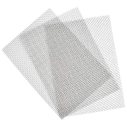 TIMESETL 3 piezas de malla de alambre tejido de acero inoxidable Hoja de malla metálica a prueba de roedores Agujero de 3,53 mm Ideal para ladrillos aéreos - A4 (210 x 300 mm)