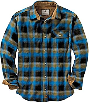 Legendary Whitetails Men s Standard Buck Camp Flannel Shirt Cobalt Plaid Large
