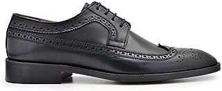 2040-702 NOC-Antik Siyah 201 Nevzat Onay Bağcıklı Siyah Deri Kösele Erkek Ayakkabı